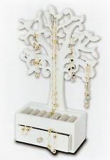Schmuckbaum mit Schublade weiß - Holz Schmuckkasten Schmuckbox Schmuckkästchen