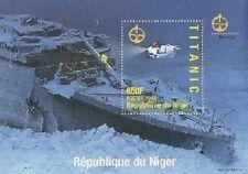 TITANIC OCEAN LINER SHIP DISASTER REPUBLIQUE DU NIGER 1998 MNH STAMP SHEETLET