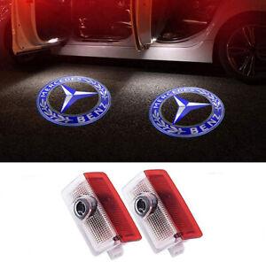 2Packs Logo LED Door Courtesy Light Shadow Laser Projector for Mercedes-Benz New