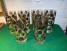 RETRO DRINKING GLASSES WITH PRESIDENTS WASHINGTON THRU EISENHOWER 1950'S