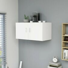 Wall Mounted Cabinet Floating Wall Shelf Storage Unit Cupboard 2 Doors White