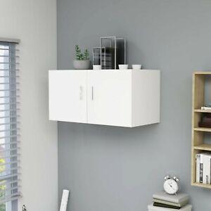 Wall Mounted Cabinet Floating Wall Shelf Storage Unit Cupboard 2 Doors White