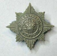 WW2 4th 7th Dragoons Cap badge White metal original