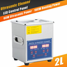 Professional Digital Ultrasonic Cleaner Machine with Timer Heated Cleaning 2L US