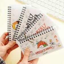 """Rice Roll"" 1pc Weekly Planner Notebook Coil Sprial Cute Study Agenda Scheduler"