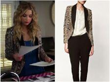 NWT Zara Snake Skin Python Print Black Trim Tuxedo Lapel Collar Blazer Jacket XS