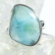 LARIMAR ATLANTIS 11 Ring ECHT 925 Silber Blue Unique Unikat