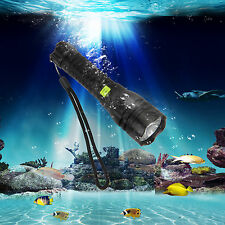 Hot New 2500Lm R5 Led Scuba Diving 80m Flashlight Torch Light +18650+Charger Dby