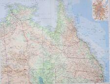 1958 LARGE MAP AUSTRALIA NORTH EAST COOKTOWN BRISBANE BRISBANE ROCKHAMPTON