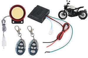 Kit antifurto allarme moto universale scooter 125dB sirena 2 telecomandi