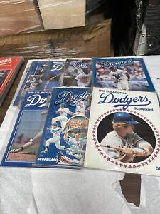 7 Program Lot 1970's & 1980'sLos Angeles Dodgers Smith, Cey, Sax  Nice #4