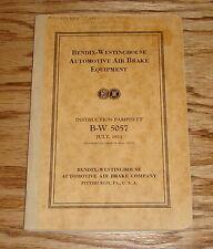 Original 1933 Bendix Westinghouse Automotive Air Brake Equipment Manual 33