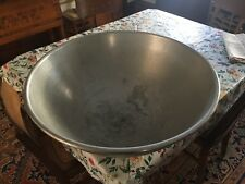 "c1940-50's monster metal dough bowl cafeteria size - gentle wear 12"" h x 29"" dia"