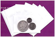 "(100)  WHITE ENVELOPES  24lb  FOR  COINS/SMALL PARTS ENVELOPES  2-1/4"" x 3-1/2"""
