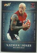 2013 AFL SELECT CHAMPIONS BF11 Nathan Jones Melbourne Best and Fairest CARD