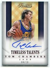 2013-14 Timeless Treasures Timeless Talents Ruby 19 Tom Chambers Auto 4/10