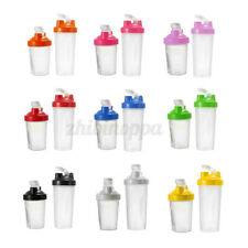 400/600ml Shake Protein Blender Shaker Mixer Cup Drink Whisk Bottle Cocktail Gym