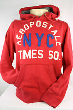 Aeropostale Nineteen Eighty Seven NYC Times SQ Men's Hoodie Size L Red Preowned