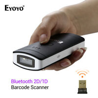 Eyoyo Wireless Bluetooth 2D/1D/QR Scan Barcode Scanner Bar Code Reader Handheld