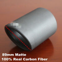 Matte Car Universal Carbon Fiber Exhaust pipe Cover 89mm Exhaust Tip Accessories