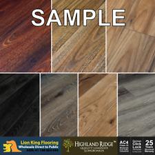 CLICK LOCK Floating Timber Laminate Flooring Long Board Samples  - 7 Colors
