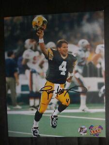 Brett Favre signed 8x10 photo w/BF/COA  Green Bay Packers Super Bowl XXXI
