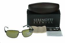 NEW POLARIZED Photochromic SERENGETI TRAPANI Black LW 555NM Lens Sunglasses 7597