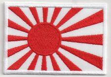 PATCH RICAMO TOPPA BANDIERA FLAG GIAPPONE SOL LEVANTE SOLE ROSSO NASCENTE