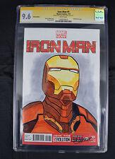 Iron Man 1 Marvel 2013 NM+ CGC SS 9.6 Chris Thorne Sketch Signed Blank