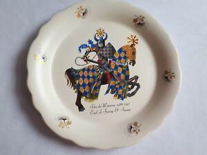 John De Warenne 1286-1347 Decorative Plate Earl Of Surrey & Sussex Axe Vale