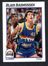 Blair Rasmussen #55 signed autograph auto 1991-92 Hoops Basketball Trading Card