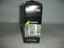 Genuine Lexmark C5220YS Return Program Yellow Toner Cartridge