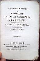 1852 SENOFONTE E SOCRATE TRADUZIONE DI GIACOMELLI DA PISTOIA E ALESSANDRO VERRI