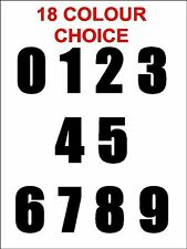 "2"" 5cm Self adhesive Vinyl Sticker numbers set  0-9 18 colour choice Bold font"