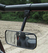 NEW Polaris Ranger REAR VIEW MIRROR Fully Adjustable Wide Angle Steel Clamp YXZ