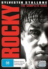 Rocky - The Complete Saga (DVD, 6-Disc Set) NEW
