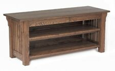 #1151 Solid Oak Mission TV Stand