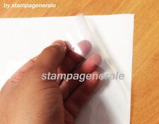 50 FOGLI A4 CARTA ADESIVA TRASPARENTE LUCIDA POLIPOPRILENE X STAMPANTE LASER PVC
