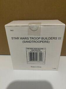 Sandtroopers 4 Pack Troop Builders III Set STAR WARS Fan Club Exclusive MIB
