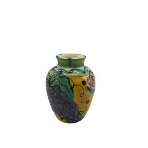 Signed Rose Grape Italian Home Decorative Flower Vase Ceramic Italy
