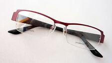 Titan Brille Gestell Nylorrand rot schwarz DamenFassung leicht nickelfrei size M