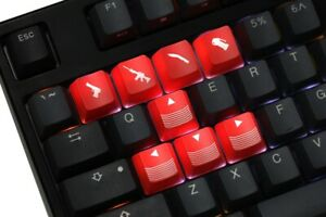 Keycaps ABS Etched, light, Shine-Through Crossfire Gaming Short Key For Gamers