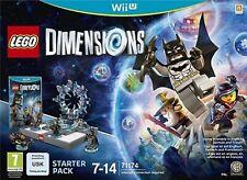 Lego dimensiones Starter Pack 71174 Wii U versión original de Reino Unido