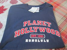 "Planet Hollywood ""Honolulu""  Mens T-Shirt NAVY Size Medium NEW Old Stock NWT"