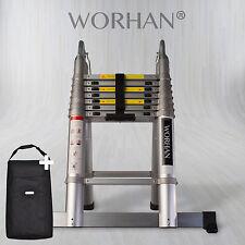 Worhan ® 5.6m telescopico Pieghevole Scala a pioli Allungabile Multiuso Alluminio ak5.6