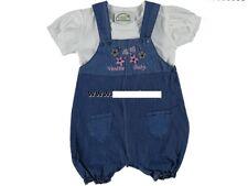Sommer Set Baby Jeans kurze Latzhose mit Shirt Gr. 62, 68, 74