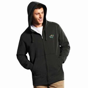 NWT Men's Minnesota Wild Full-Zip Hooded Embroidered Sweatshirt - Black - Large