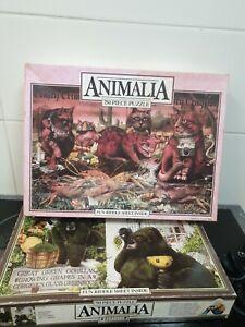 Animalia Jigsaw puzzles Crimson Cats and Great Green Gorillas Australia1986 used
