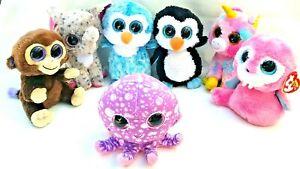TY Beanie Boos Tusk Fantasia Ice Cube Coconut Waddles Specks Octopus Plush Toy