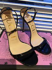 Gucci Black Patent Sandals 37.5